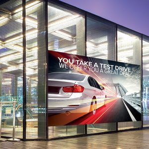 ViziPrint Illuminate translucent matte PET film is ideal for window advertisements viewed during the day in direct sunlight or illuminated at night by store lighting. It can also be used for privacy and decorative glass applications as well as backlit displays.