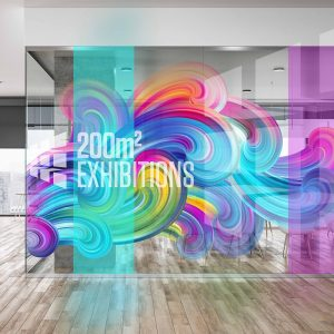 ViziPrint Deco + from Drytac is an optically clear printable window film used to create eye-catching, colorful graphics.