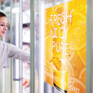Windowtac clear PET film for easy to apply window graphics and backlit display