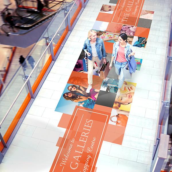 Drytac Polar SandTac Floor One Step Floor Graphic Solution