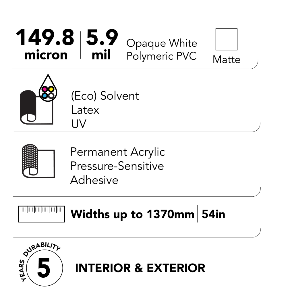 Drytac Polar Blockout Tech Specs
