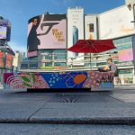nspired by the work of a local artist Hello Kirsten, Toronto-based Creative Silhouettes used Drytac Polar Grip to create a series of colourful installations in the Yonge/Dundas area of the city.